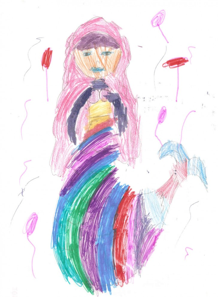 Księżniczka syrena na imprezie. A nazywa się Mijamora Kadenza